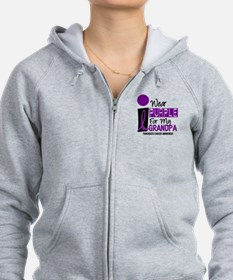 I Wear Purple For My Grandpa 9 PC Zip Hoodie