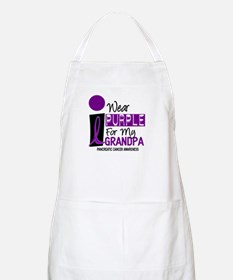 I Wear Purple For My Grandpa 9 PC BBQ Apron