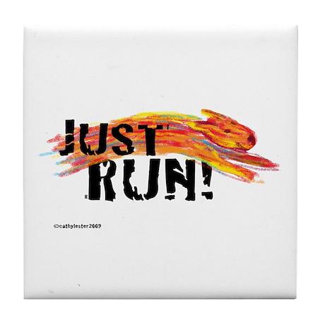 Just RUN! Tile Coaster