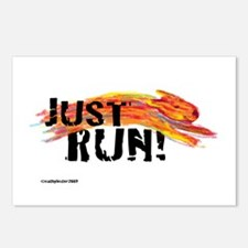 Just RUN! Postcards (Package of 8)