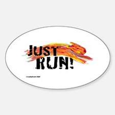 Just RUN! Oval Decal