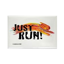 Just RUN! Rectangle Magnet