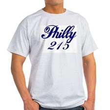 Philadelphia Philly 215 Ash Grey T-Shirt