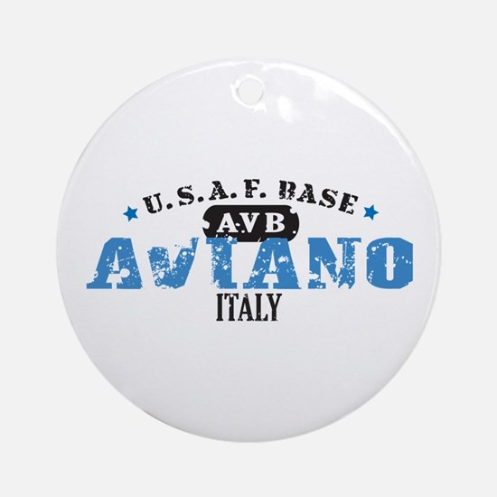 Aviano Air Force Base Ornament (Round)