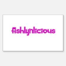 Ashlynlicious Rectangle Decal