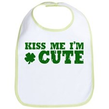 Kiss Me I'm Cute Bib