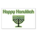 Basic Happy Hanukkah Rectangle Sticker