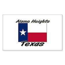 Alamo Heights Texas Rectangle Decal