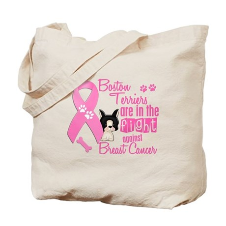 Boston Terriers Against Breast Cancer 2 Tote Bag