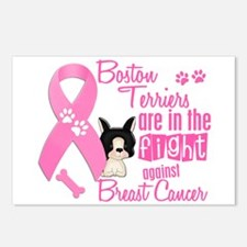 Boston Terriers Against Breast Cancer 2 Postcards
