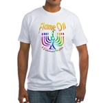 Flame on! Gay Hanukkah Fitted T-Shirt