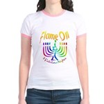 Flame on! Gay Hanukkah Jr. Ringer T-Shirt