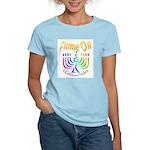 Flame on! Gay Hanukkah Women's Pink T-Shirt