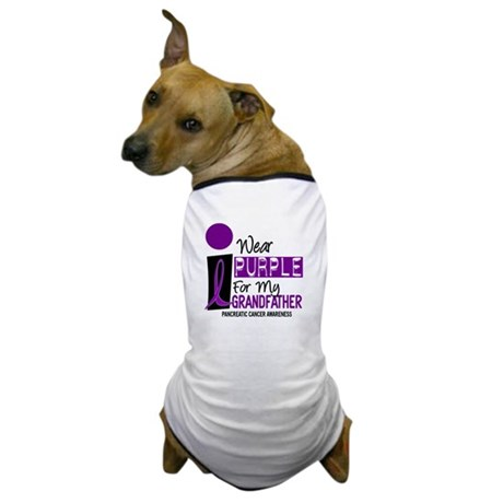 I Wear Purple For My Grandfather 9 PC Dog T-Shirt