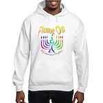 Flame on! Gay Hanukkah Hooded Sweatshirt