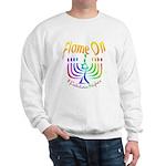 Flame on! Gay Hanukkah Sweatshirt