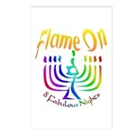 Flame on! Gay Hanukkah Postcards (Package of 8)
