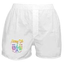 Flame on! Gay Hanukkah Boxer Shorts
