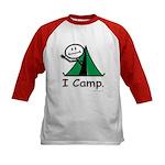 BusyBodies Camping Kids Baseball Jersey