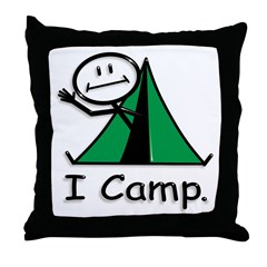 BusyBodies Camping Throw Pillow
