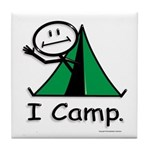 BusyBodies Camping Tile Coaster