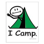BusyBodies Camping Small Poster
