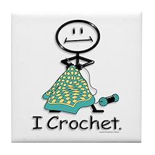 BusyBodies Crochet Tile Coaster