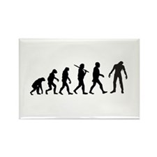 Funny Zombie Evolution Rectangle Magnet