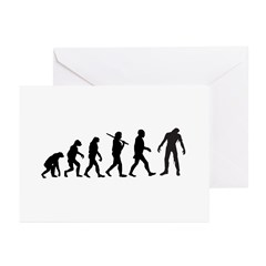 Funny Zombie Evolution Greeting Cards (Pk of 10)