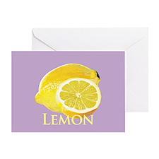 Lemon Citrus Greeting Card