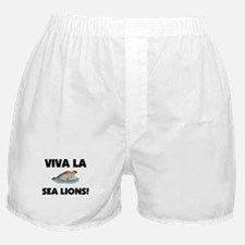 Viva La Sea Lions Boxer Shorts