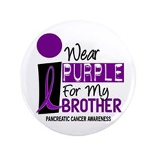 """I Wear Purple For My Brother 9 PC 3.5"""" Button"""