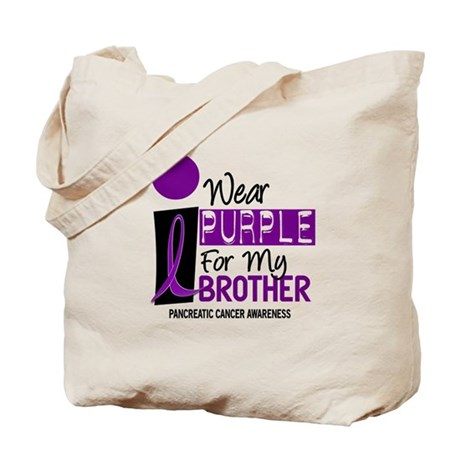 I Wear Purple For My Brother 9 PC Tote Bag