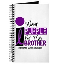 I Wear Purple For My Brother 9 PC Journal