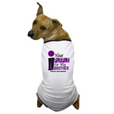 I Wear Purple For My Brother 9 PC Dog T-Shirt