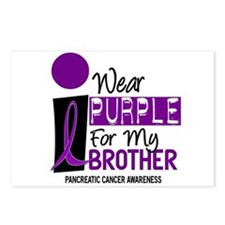 I Wear Purple For My Brother 9 PC Postcards (Packa