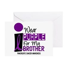I Wear Purple For My Brother 9 PC Greeting Card