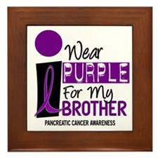 I Wear Purple For My Brother 9 PC Framed Tile