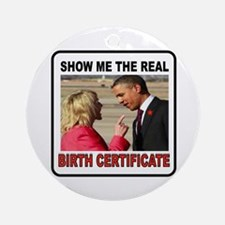 ANTI OBAMA Ornament (Round)