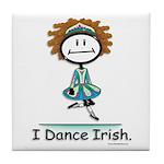 BusyBodies Irish Dancing Tile Coaster