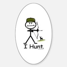 BusyBodies Bow Hunter Oval Decal