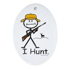 Deer Hunter Oval Ornament