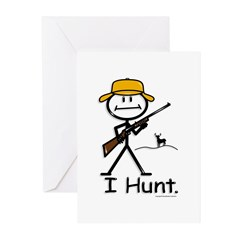 BusyBodies Deer Hunter (Rifle) Greeting Cards (Pac