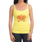 Sporty Heart Pink Bride 09 Jr. Spaghetti Tank