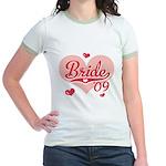 Sporty Heart Pink Bride 09 Jr. Ringer T-Shirt