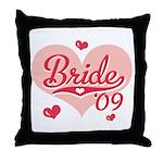 Sporty Heart Pink Bride 09 Throw Pillow