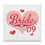 Sporty Heart Pink Bride 09 Tile Coaster