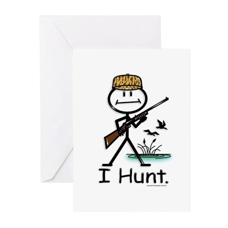 BusyBodies Duck Hunter Greeting Cards (Package of