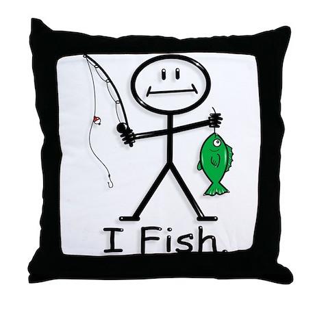 BusyBodies Fishing Throw Pillow