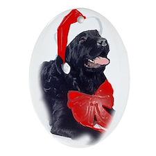 Santa Newf Oval Ornament
